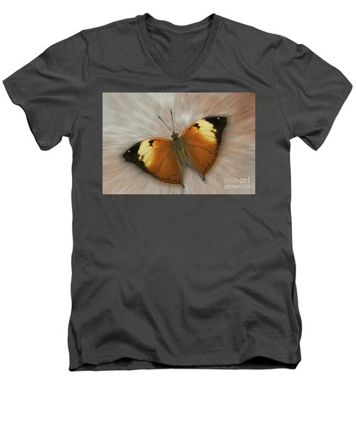 Autumn Leaf Butterfly Zoom Men's V-Neck T-Shirt