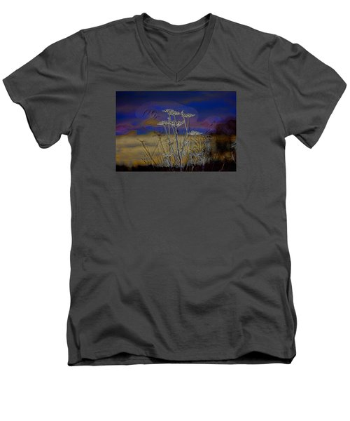 Autumn Abstract  Men's V-Neck T-Shirt by Leif Sohlman