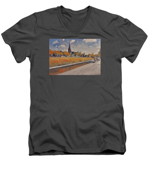 Autumn Along The Griend Men's V-Neck T-Shirt