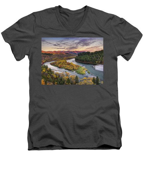 Autumn Along The Snake River Men's V-Neck T-Shirt