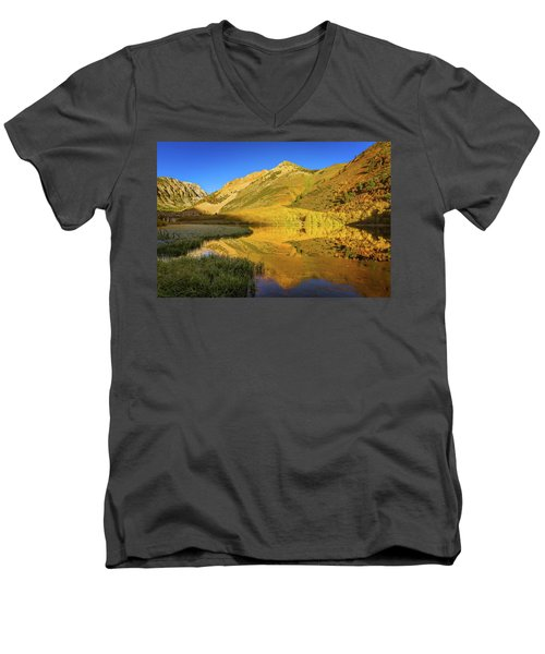 Autumn At North Lake Men's V-Neck T-Shirt