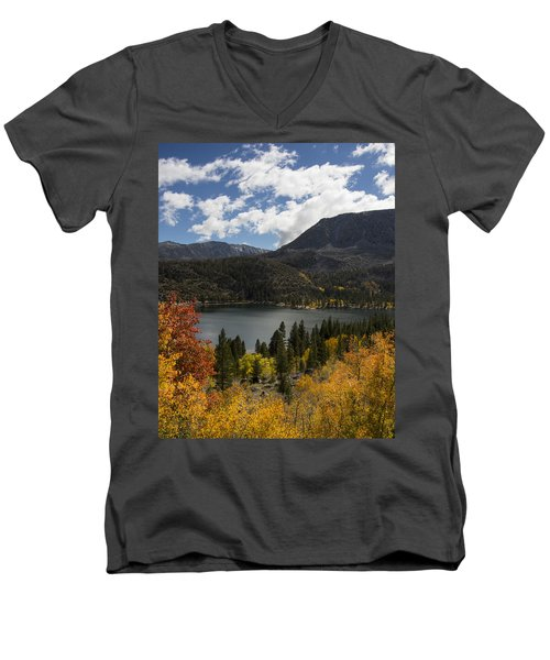 Autumn At Rock Creek Lake 2 Men's V-Neck T-Shirt