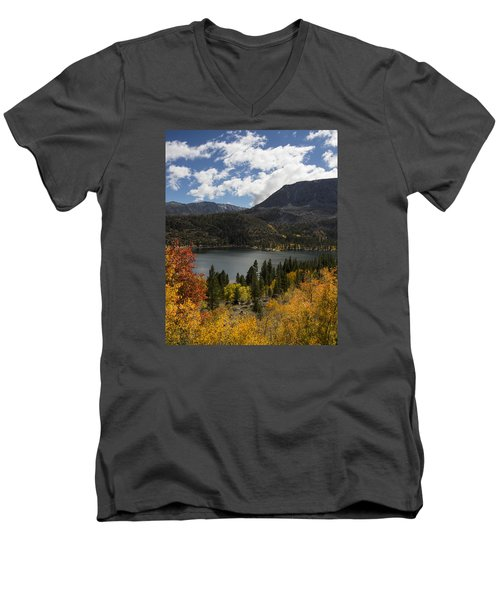 Autumn At Rock Creek Lake 2 Men's V-Neck T-Shirt