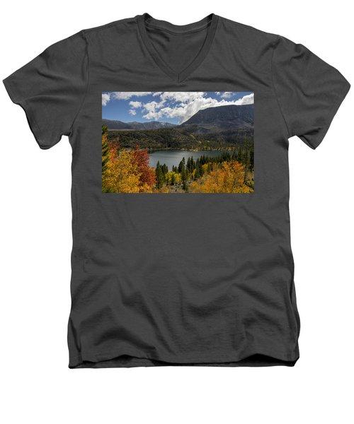 Autumn At Rock Creek Lake Men's V-Neck T-Shirt