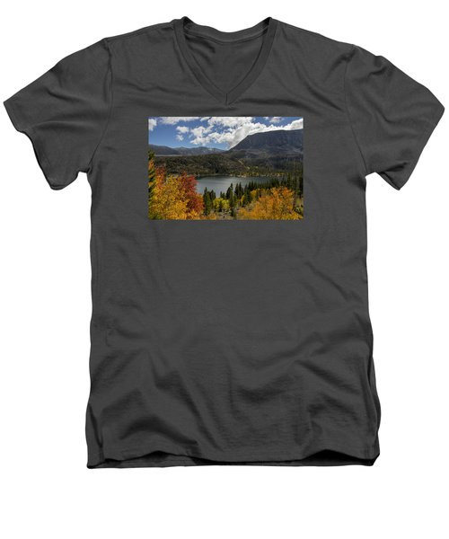 Autumn At Rock Creek Lake Men's V-Neck T-Shirt