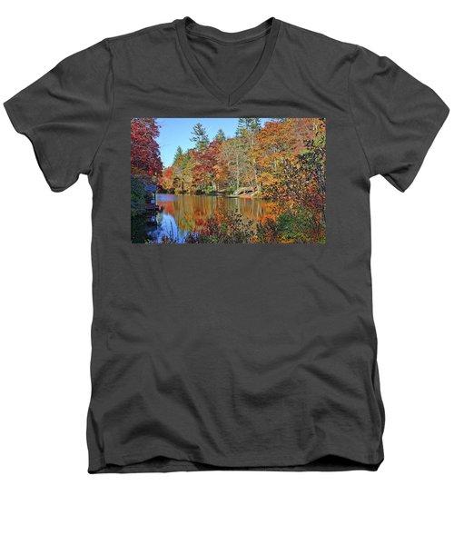 Autumn At The Lake 2 Men's V-Neck T-Shirt