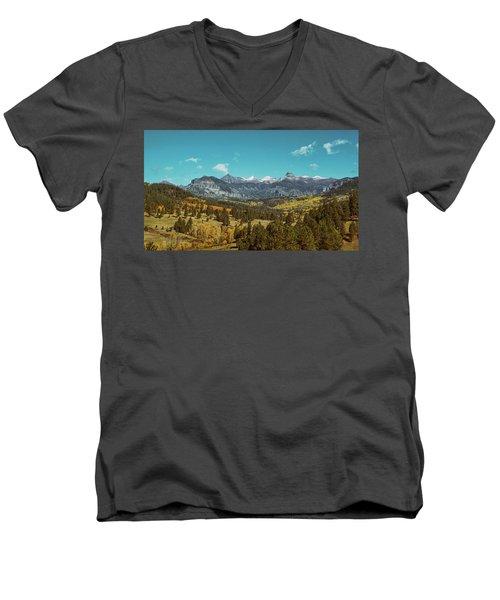 Autumn At The Weminuche Bells Men's V-Neck T-Shirt