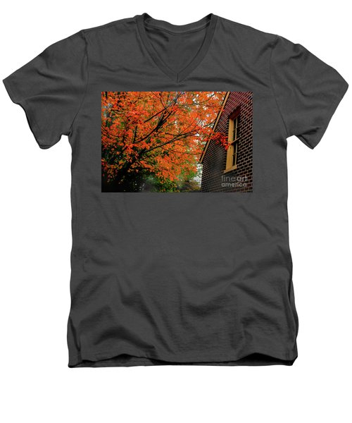 Autumn At The Window Men's V-Neck T-Shirt