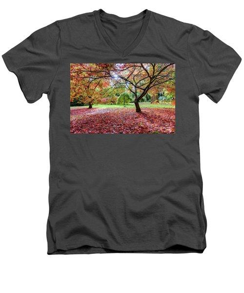 Autumn At Westonbirt Arboretum Men's V-Neck T-Shirt