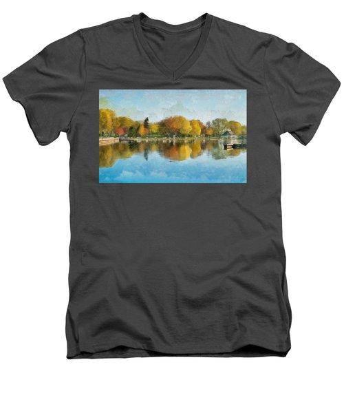 Autumn Blues Men's V-Neck T-Shirt