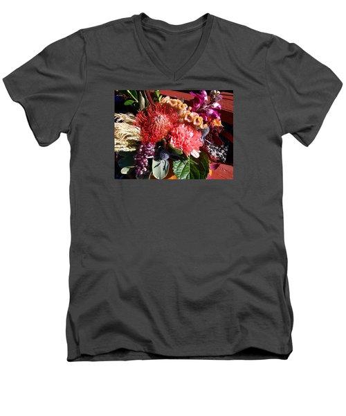 Autumn Bouquet Men's V-Neck T-Shirt by Sharon Duguay