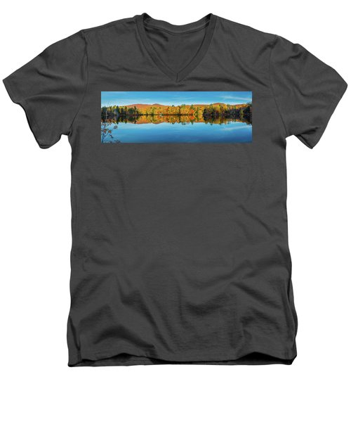 Autumn By The Lake Men's V-Neck T-Shirt