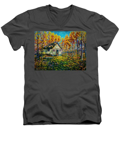 Autumn Cabin Trip Men's V-Neck T-Shirt
