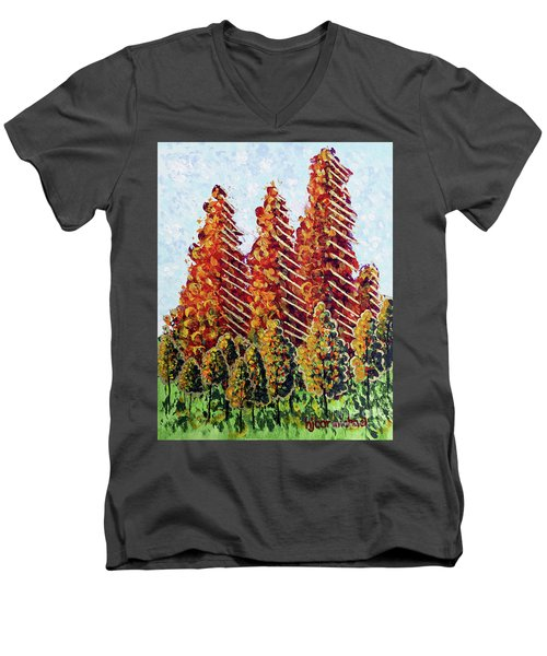 Autumn Christmas Men's V-Neck T-Shirt