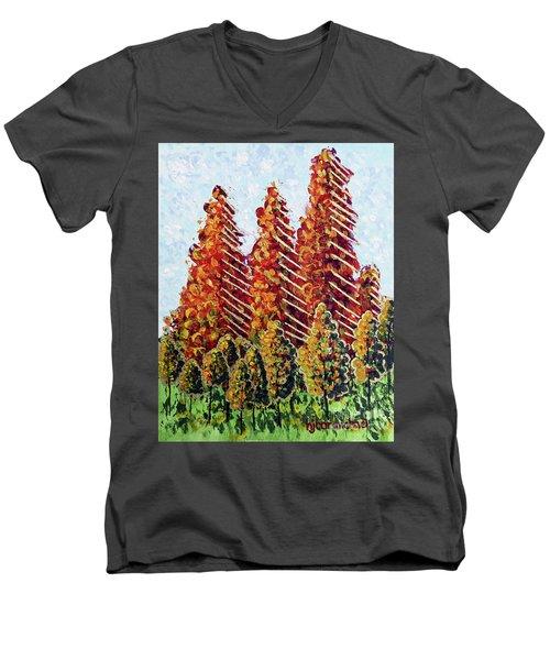 Autumn Christmas Men's V-Neck T-Shirt