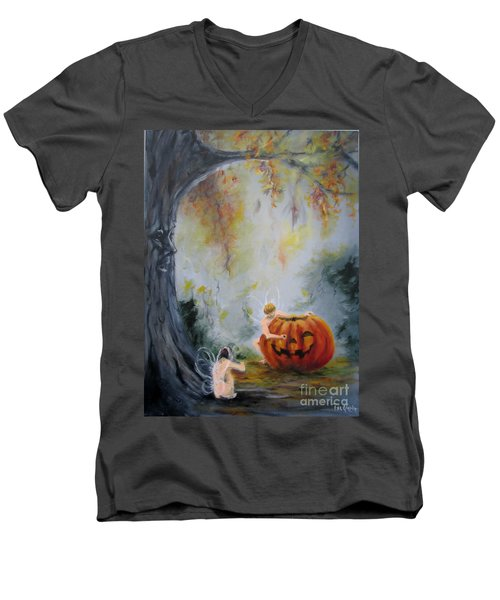 Autumn Color Celebration Men's V-Neck T-Shirt