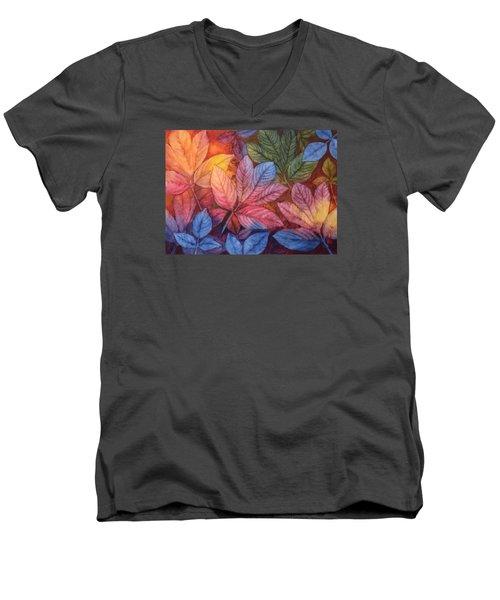 Autumn Color Men's V-Neck T-Shirt