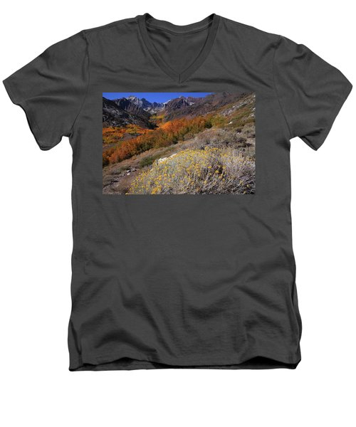 Autumn Colors At Mcgee Creek Canyon In The Eastern Sierras Men's V-Neck T-Shirt