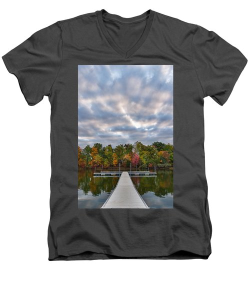 Autumn Colors At The Lake Men's V-Neck T-Shirt
