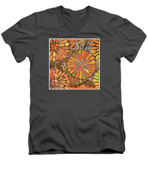 Autumn  Colors Mandalas  Men's V-Neck T-Shirt