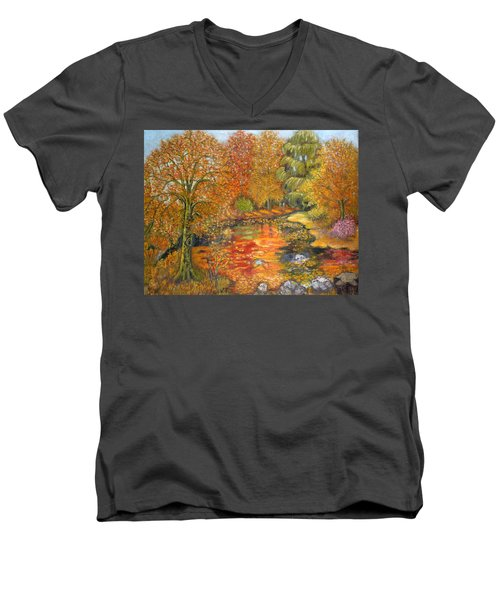 Autumn Colours Men's V-Neck T-Shirt