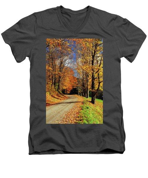 Autumn Country Road Men's V-Neck T-Shirt