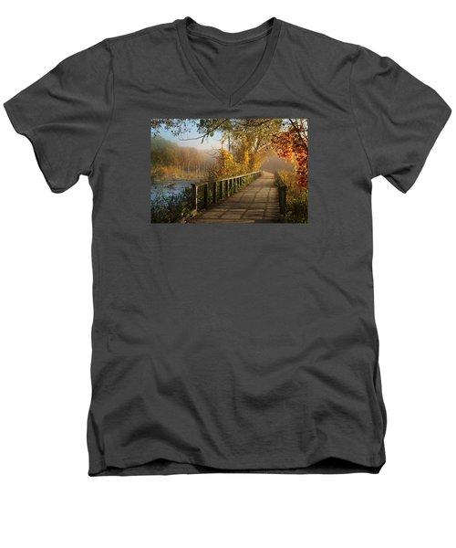 Autumn Emerging Men's V-Neck T-Shirt by Rob Blair