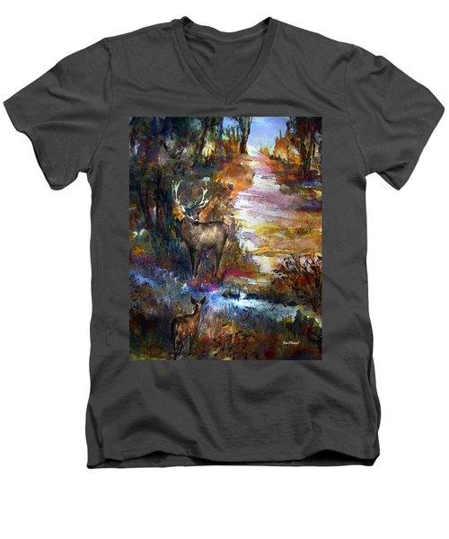 Autumn Encounter Men's V-Neck T-Shirt