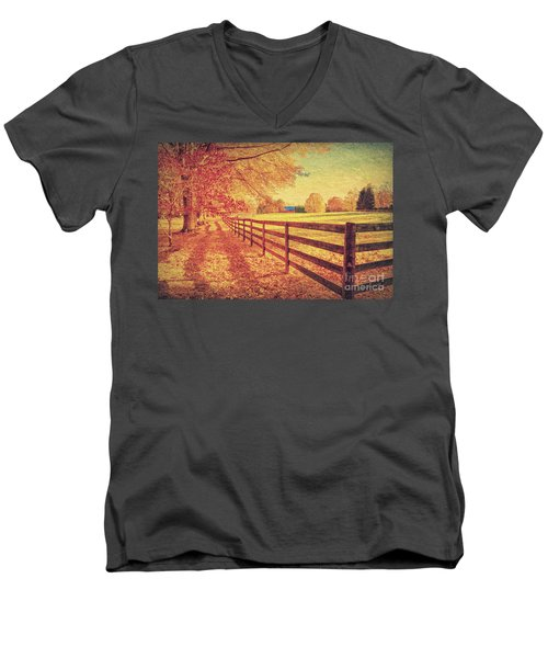 Autumn Fences Men's V-Neck T-Shirt