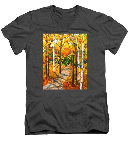 Autumn Forest Trail Men's V-Neck T-Shirt