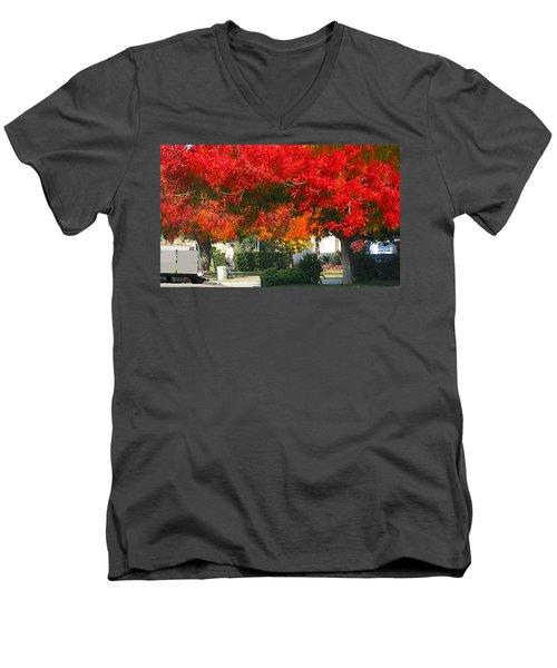 Autumn Fresno Men's V-Neck T-Shirt