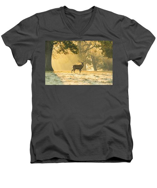 Men's V-Neck T-Shirt featuring the photograph Autumn Frost by Scott Carruthers