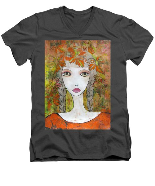 Autumn Girl  Men's V-Neck T-Shirt