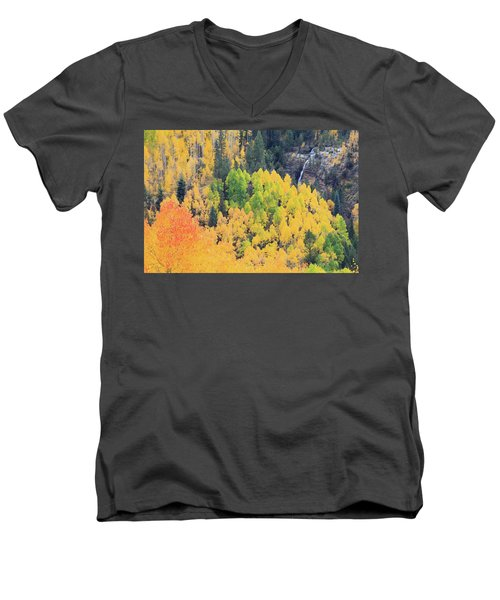 Men's V-Neck T-Shirt featuring the photograph Autumn Glory by David Chandler