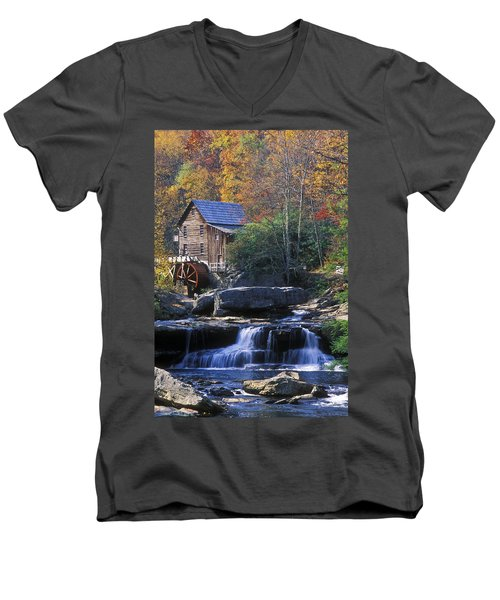 Autumn Grist Mill - Fs000141 Men's V-Neck T-Shirt