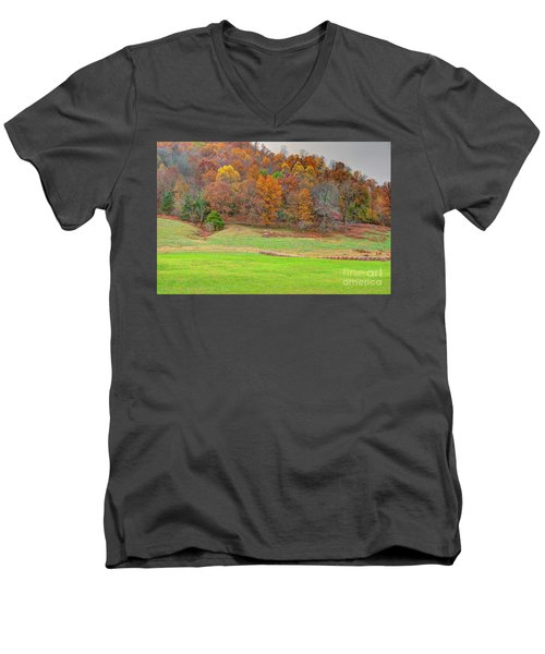 Autumn Hillside Men's V-Neck T-Shirt