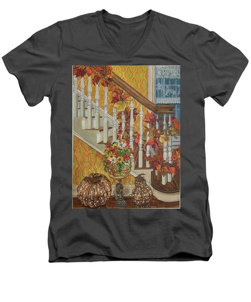 Autumn Hues Men's V-Neck T-Shirt by Bonnie Siracusa