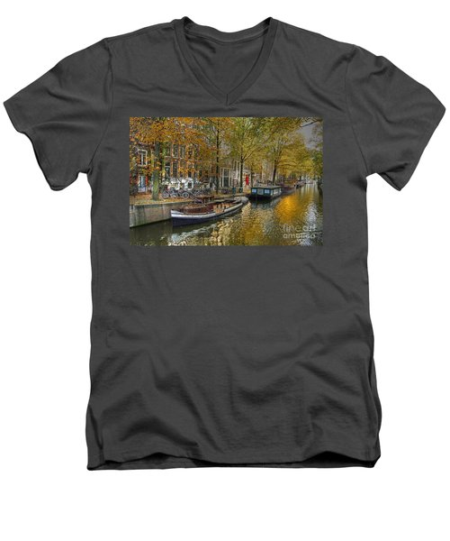 Autumn In Amsterdam Men's V-Neck T-Shirt