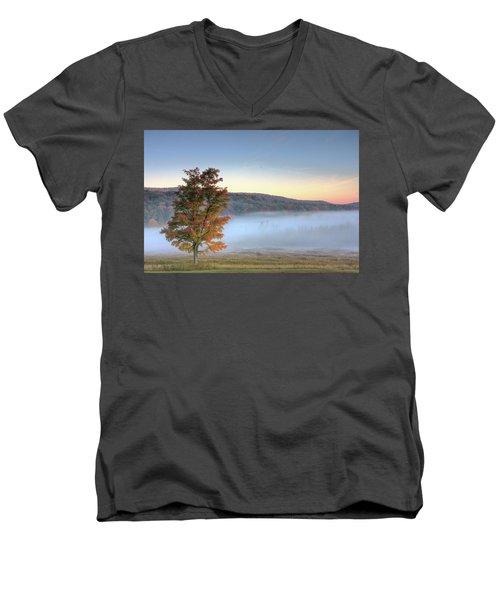 Autumn In Canaan Valley Wv  Men's V-Neck T-Shirt