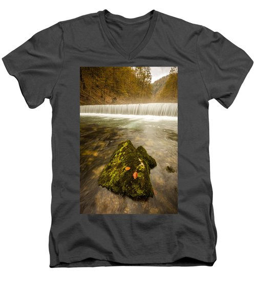 Men's V-Neck T-Shirt featuring the photograph Autumn In Croatia by Davorin Mance
