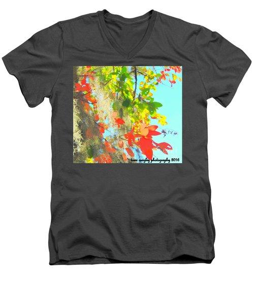 Autumn In Dixie  Men's V-Neck T-Shirt