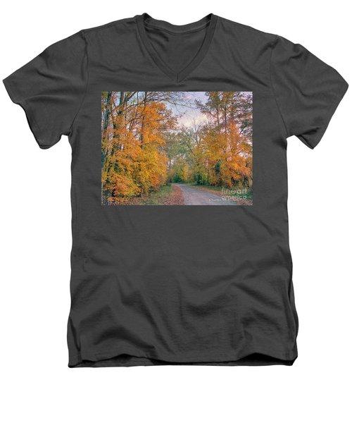 Autumn In East Texas Men's V-Neck T-Shirt