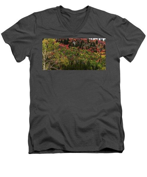 Autumn In Idaho Men's V-Neck T-Shirt by Yeates Photography