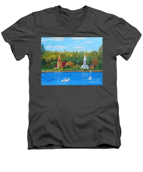 Autumn In Nova Scotia Men's V-Neck T-Shirt