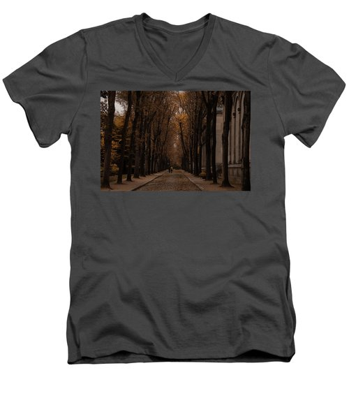 Autumn In Paris 1 Men's V-Neck T-Shirt