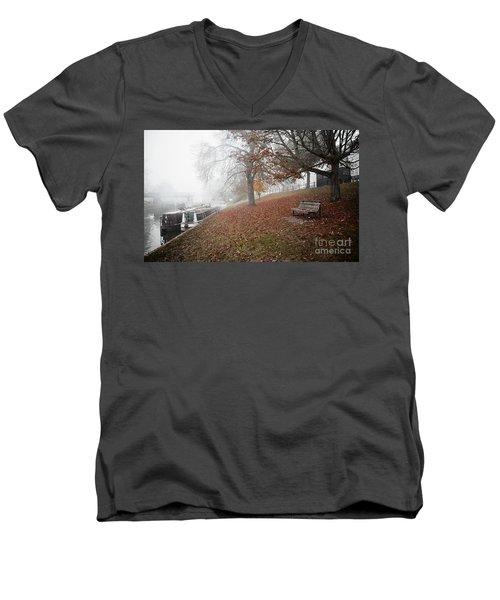 Autumn In River Cam Men's V-Neck T-Shirt