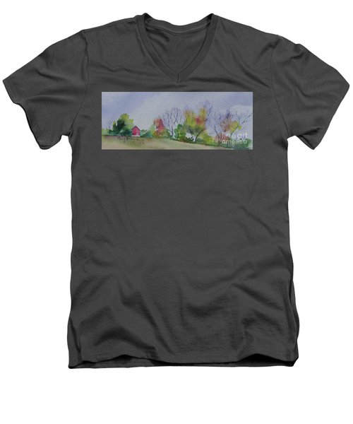 Autumn In Rural Ohio Men's V-Neck T-Shirt by Mary Haley-Rocks