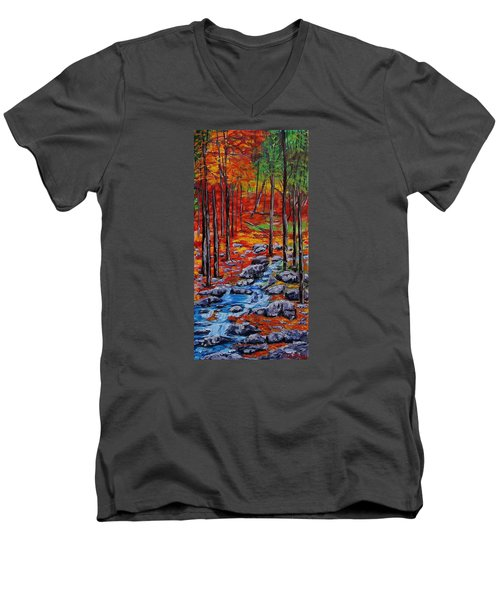 Autumn In The Air 2 Men's V-Neck T-Shirt by Mike Caitham