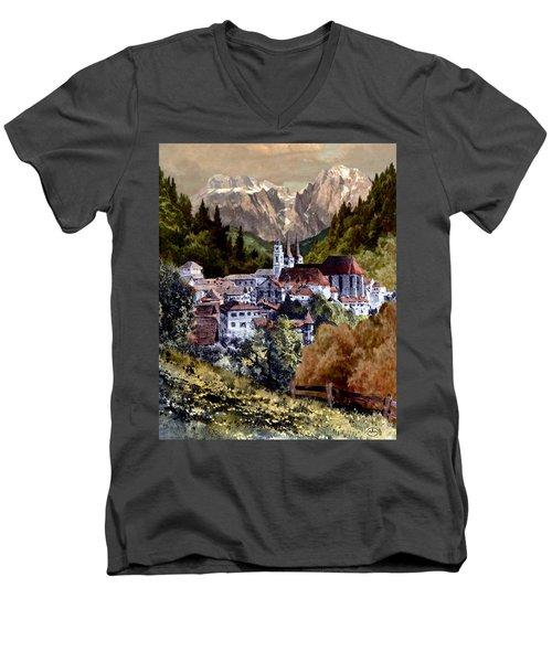 Autumn In The Alps Men's V-Neck T-Shirt