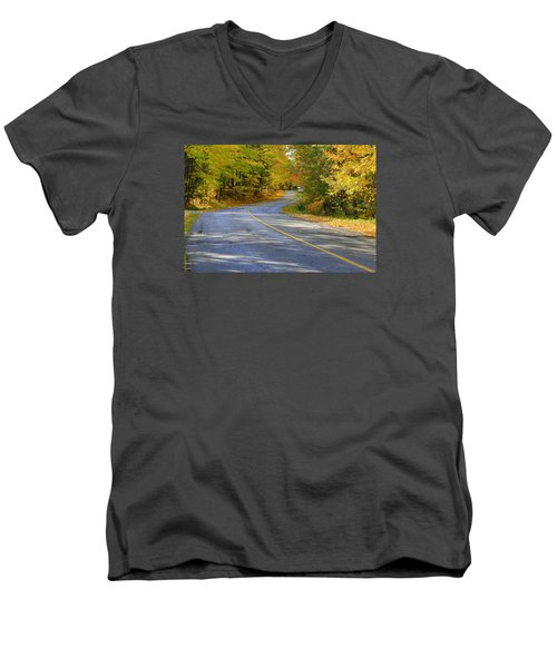 Men's V-Neck T-Shirt featuring the photograph Autumn In The Caledon Hills 2 by Gary Hall